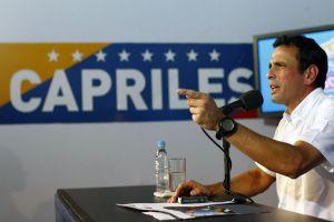 Власти Венесуэлы де дали Энрике Каприлесу, который является лидером оппозиционных сил, вылететь в Испанию